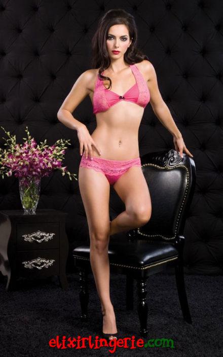 Розов сет долна облека