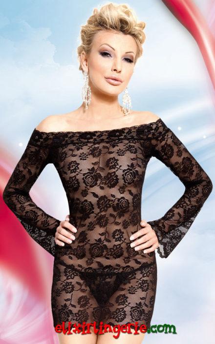 Мини фустан со долги ракави