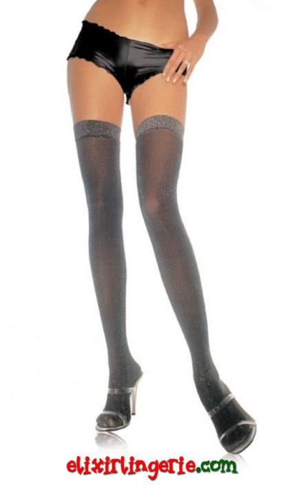 Чорапи со лурекс и сребрен ефект