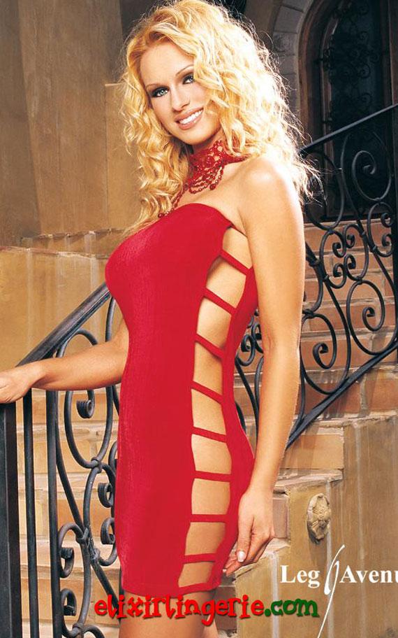 Мини фустан со странични отвори