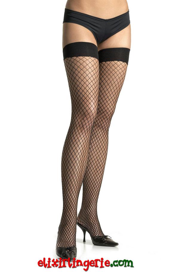 Високи црни мрежести чорапи