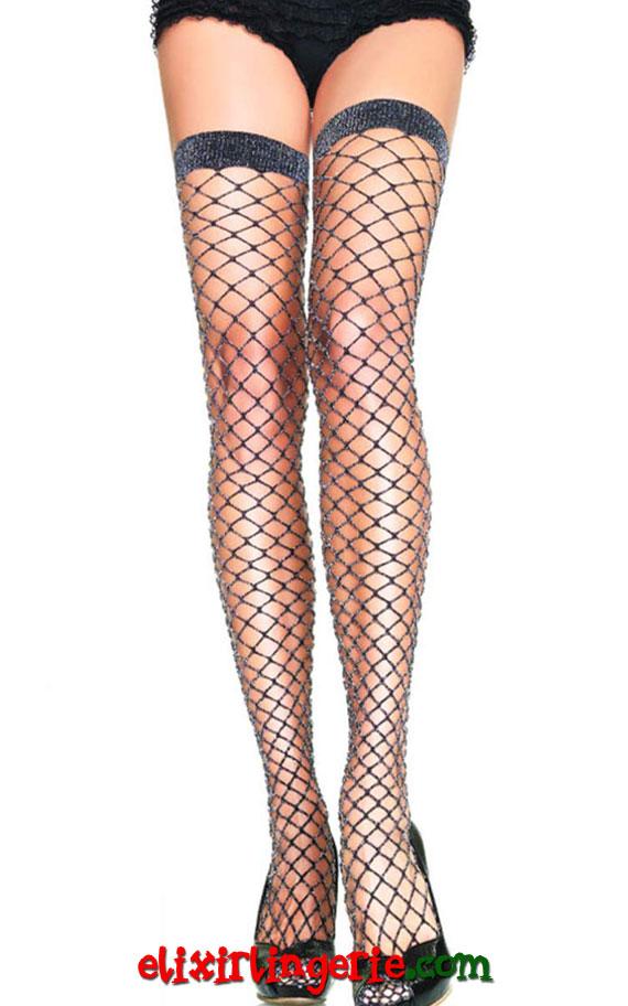 Мрежести чорапи со лурекс