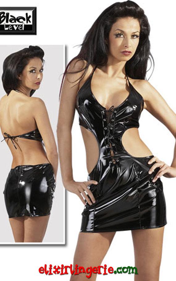 Мини фустан со отворен грб