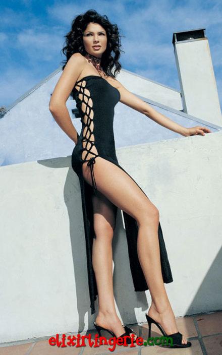 Фустан на врзување од двете страни