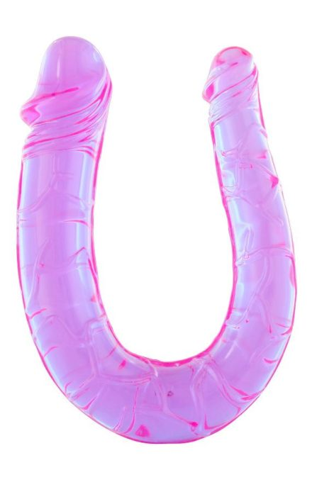 Виолетово дилдо за двојна пенетрација