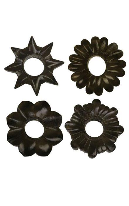 Сет од црни прстени за пенис
